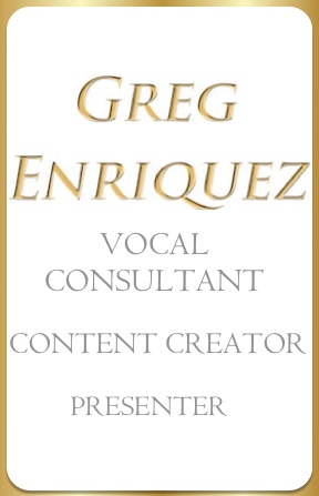 Greg Enriquez Vocal Master Instructor Trained in SLS Speech Level Singing Lessons