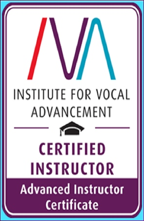 IVA's Instructor's Certificate Singing Voice Lessons Vocal Coach Technique